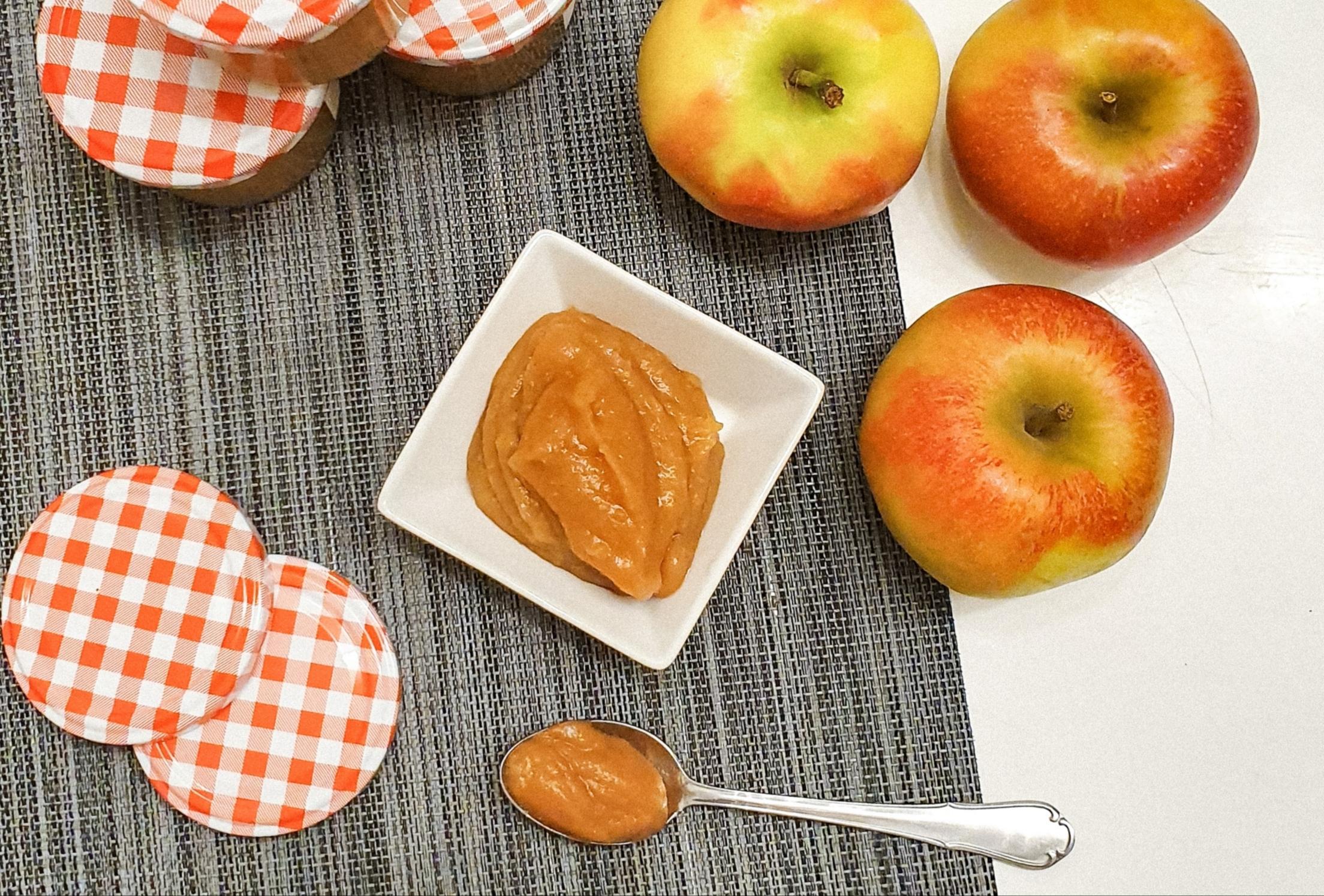 Apple Butter ohne Zuckerzusatz