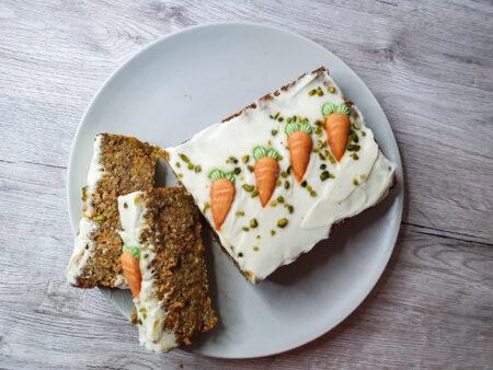 veganer, low carb Rüeblikuchen