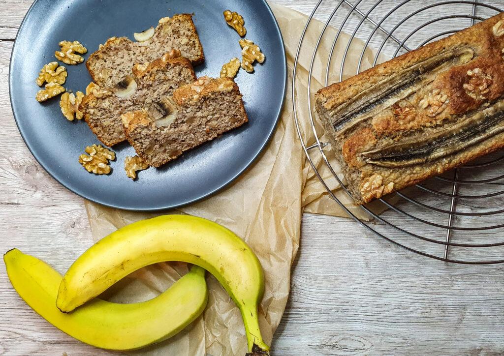 Bananen-Walnuss-Brot - vegan und glutenfrei