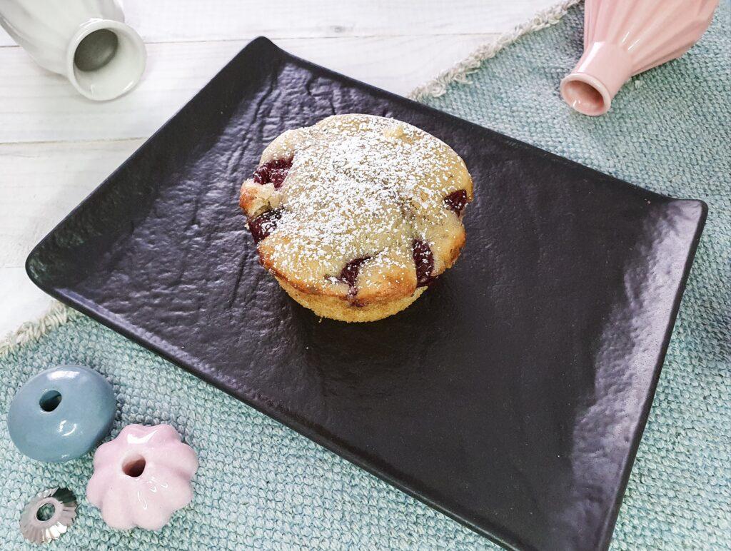 Kirsch- Chia- Muffins