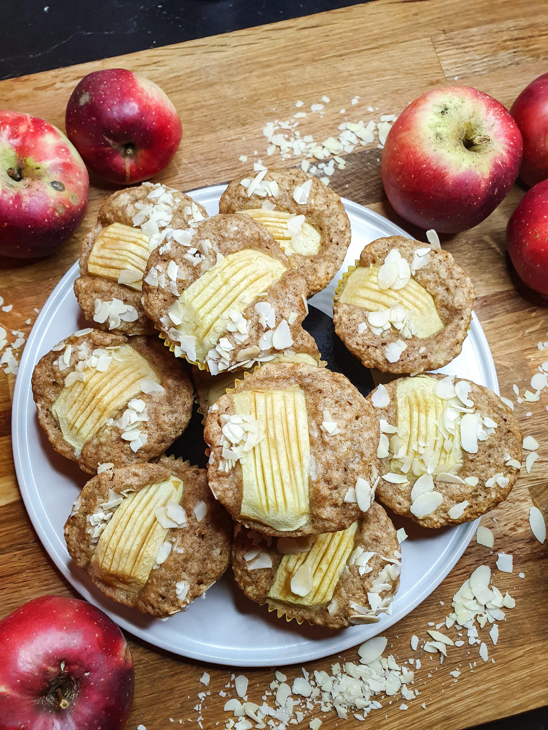 Apfelmuffins - vegan, zucker- & laktosefrei